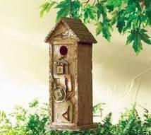 Scrapbook Birdhouse Resin Brown
