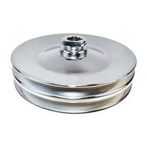 GM Saginaw Power Steering Pump Double-Groove Steel Pulley (Chrome)