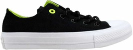 Converse Chuck Taylor II 2 OX Black/Volt Men's 153541C Size UK 4 - $89.87