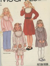 Girls Dress or Top and Matching Doll Dress Pattern, McCall's 7716 Size 6... - $2.00
