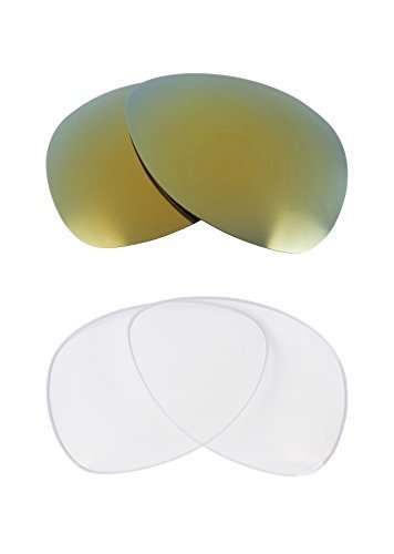 Primary image for New SEEK OPTICS Replacement Lenses Oakley PLAINTIFF - Clear Green
