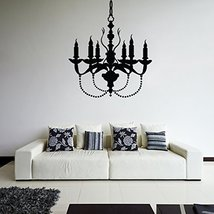 ( 39'' x 34'') Vinyl Wall Decal Chandelier / Lamp with Candles Art Decor Stic... - $42.02