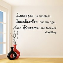 (94'' x 51'') Vinyl Wall Decal Quote Laughter is Timeless, Imagination has no... - $104.05