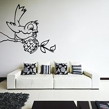 ( 55'' x 41'') Banksy Vinyl Wall Decal Bird with Grenade / Street Art Graffit... - $61.86