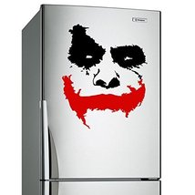 """( 28'' x 23'') Vinyl Wall Decal Scary Joker Face """"Why So Serious?"""" Movie Batm... - $26.61"""