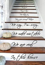 """(35"""" X 63"""") Vinyl Stairs Decal Quote in This House We Are Family We Love Do /... - $61.42"""