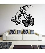 ( 20'' x 19'') Vinyl Wall Decal Beautiful Butterfly Design / Nature Abst... - $21.00