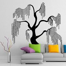 ( 29'' x 31'') Vinyl Wall Decal Unique & Beautiful Willow Tree Design / Relax... - $32.97