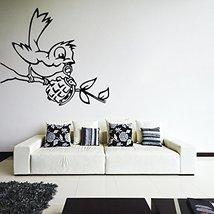 ( 24'' x 18'') Banksy Vinyl Wall Decal Bird with Grenade / Street Art Graffit... - $21.86