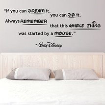 ( 63'' x 26'' ) Vinyl Wall Decal Quote You can Dream, Always Remember, Whole ... - $43.29