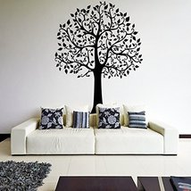 ( 55'' x 43'') Vinyl Wall Decal Beautiful Huge Tree with Leaves / Nature Art ... - $64.01