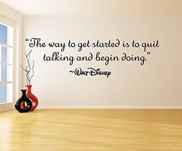 ( 94'' x 28'' ) Vinyl Wall Decal Quote The way to Get Sarted / Is to Quit Tal... - $62.89