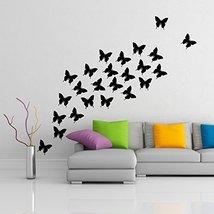 ( 71'' x 62'') Vinyl Wall Decal Flock of Butterflies / 24 pcs of Butterfly Ho... - $108.98