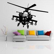 (55'' x 37'') Vinyl Wall Decal Army Helicopter Design / War Machine Art Decor... - $68.11