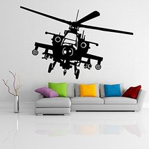 (79'' x 53'') Vinyl Wall Decal Army Helicopter Design / War Machine Art Decor... - $114.26