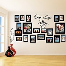 (55'' x 30'') Vinyl Wall Decal Picture Frames Design / Our Love Story Photos ... - $60.03