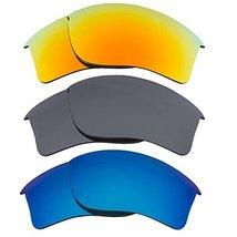 New Seek Replacement Lenses Oakley Flak Jacket Xlj Yellow Blue Black - $33.64