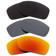 New SEEK OPTICS Replacement Lenses Oakley FIVES SQUARED - Black Red Grey - $33.64