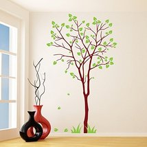 (14'' x 24'') Vinyl Wall Decal Colorful Tree with Falling Leafs / Nature Art ... - $20.03