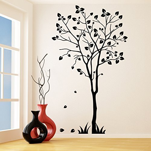 (33'' x 55'') Vinyl Wall Decal Tree Silhouette / Nature Art Decor Sticker / F... - $62.72