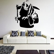 ( 21'' x 24'') Banksy Vinyl Wall Decal Death With Happy Smile Face / Undergro... - $23.91