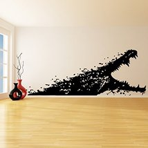 (28'' x 11'') Vinyl Wall Decal Alligator with open mouth / Sea Creature Bathr... - $19.28