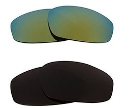 New Seek Optics Replacement Lenses Oakley Wind Jacket   Brown Green - $23.25