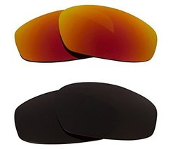 New Seek Optics Replacement Lenses Oakley Wind Jacket   Brown Red - $23.25