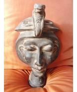 RARE Antique Egyptian Mask of Ancient Pharaoh  King AKHENATON Collection... - $113.85