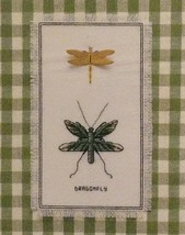 Dragonfly Duo Stamped Cross Stitch KIT Nature Collection Janlynn 18 ct Aida - $9.99