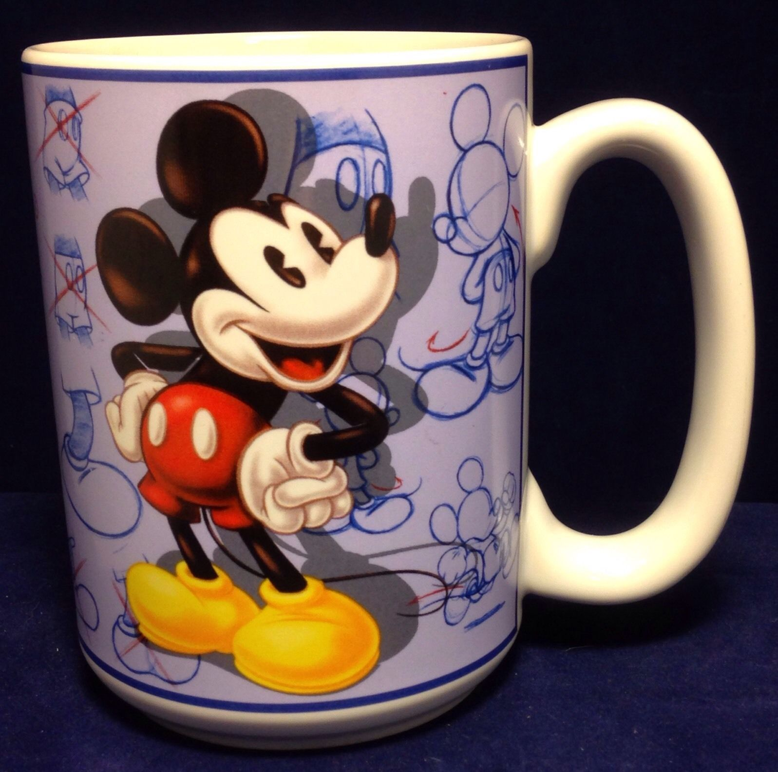 Disney store mickey mouse coffee mug animator sketches art sketch mugs glasses - Disney store mickey mouse ...