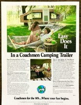 1979 PRINT AD for 1980 Coachmen Camping Trailers Easy Does It Couple Ham... - $11.69
