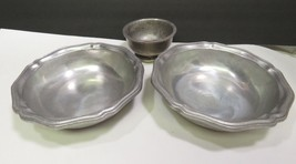"2 RWP Wilton Armetale 7"" Coupe Cereal Bowls & 1 Sherbet Bowl Wilton Colu... - $39.60"