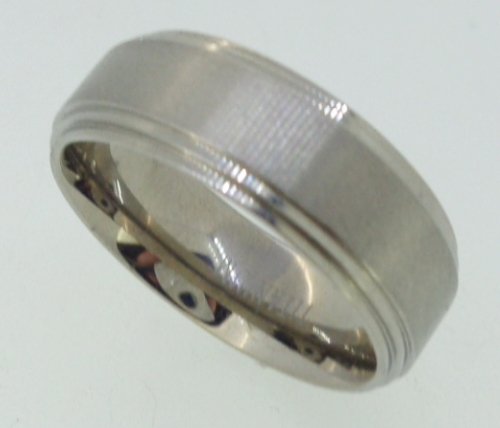Titanium Ring  - brushed  center