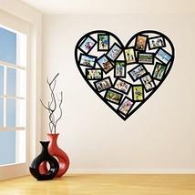 (87'' x 77'') Vinyl Wall Decal Picture Frames Design / Heart Shape Photos Art... - $164.34