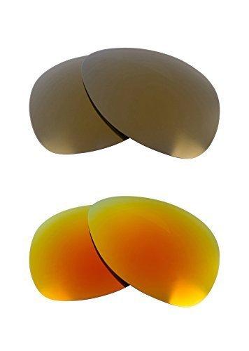 New SEEK OPTICS Replacement Lenses Oakley PLAINTIFF - Gold Yellow