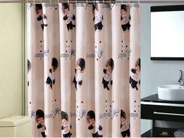MONCHHICHI Cartoon 180 x 180 cm Polyester Bathroom Use Cute SHOWER CURTA... - $24.99