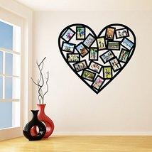 (35'' x 32'') Vinyl Wall Decal Picture Frames Design / Heart Shape Photos Art... - $37.17