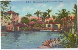 The Venetian Pool Coral Gables Florida FL Curteich 1940 Linen Unused Pos... - $4.99