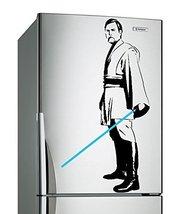 (17'' x 31'') Star Wars Vinyl Wall Decal / Obi Wan Kenobi with Blue Lightsabe... - $22.73
