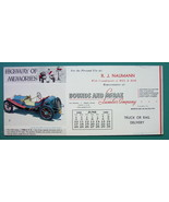 INK BLOTTER 1956 - 1908 S.P.O. Racing Car & AD Lumber Co Meriden Mississ... - $4.49