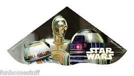 """42"""" STAR WARS R2D2 C3PO 42 IN POLY KITE W/ LINE, WINDER, QUIKCLIP, & SKY... - $19.45"""