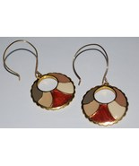 Vintage enamel earrings flat thumbtall