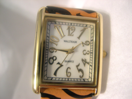 "L29, Waltham Ladies mop Faced Watch, 8.5"" Animal Print Band  w/b - $19.79"