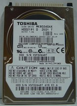 "MK8026GAX HDD2191 Toshiba 80GB 2.5"" IDE Drive Free USA Ship Our Drives Work - $17.86"