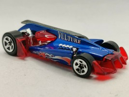 Hot Wheels Vulture Roadster 2000 Blue and Red Collectible Car Mattel - $8.59