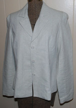 Isaac Mizrahi Target Womens 8 Blazer Career Jacket Linen Blend Metallic ... - $24.70