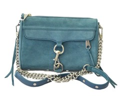 Rebecca Minkoff Crossbody Mini Mac Blue Soft Suede Shoulder Bag - $141.55