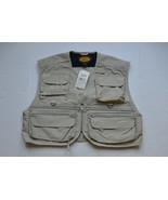 Woolrich Fishing Vest L Cotton Nylon Blend Stone Color NWT - $32.95