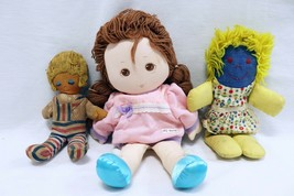 ORIGINAL Vintage Lot of 3 Soft Body Cloth Baby Dolls / Brands Unknown  - $9.89